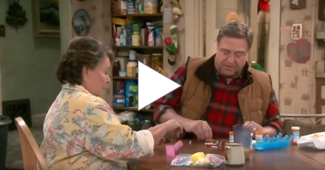 Roseanne & Dan Trade Their Medicine
