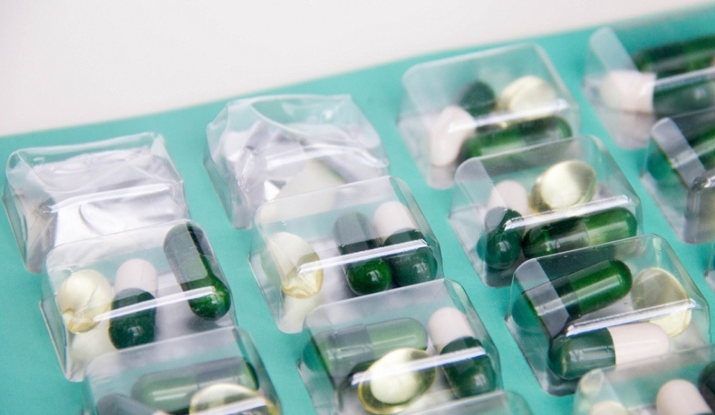 Pills in plastic case